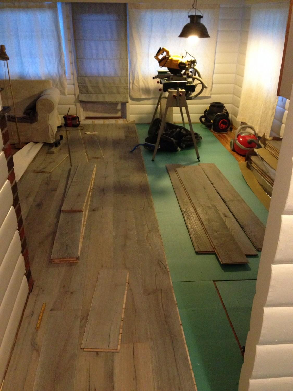 Nytt gulv... Saga nordik old wood